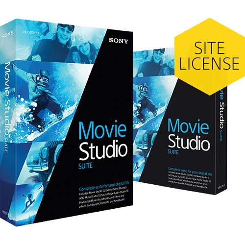 Sony Movie Studio 13 Suite (5-99 License Tier)