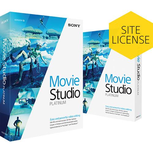 MAGIX Entertainment VEGAS Movie Studio Platinum 13 (5-99 License Tier, Download)