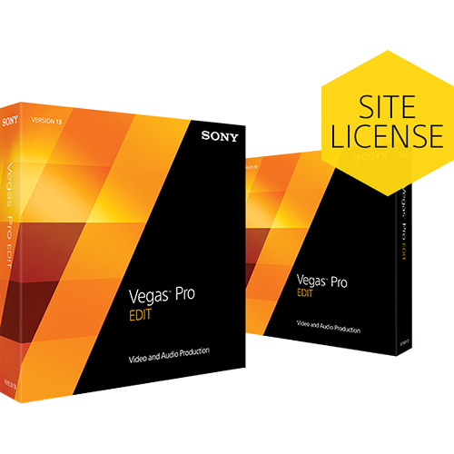 Sony Vegas Pro 13 Edit Site License Upgrade (from Studio)