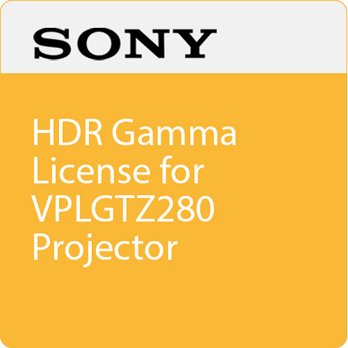 Sony HDR Gamma License for VPLGTZ280 Projector
