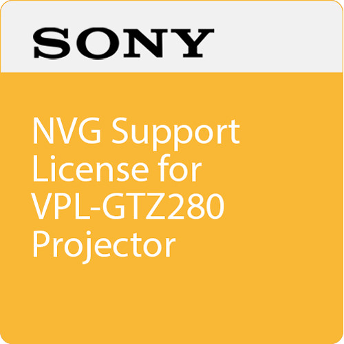 Sony NVG Support License for VPL-GTZ280 Projector