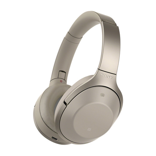 Sony MDR-1000X Wireless Noise Cancelling Headphones (Beige)