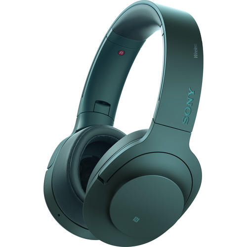 Sony h.ear on Wireless NC Bluetooth Headphones (Viridian Blue)