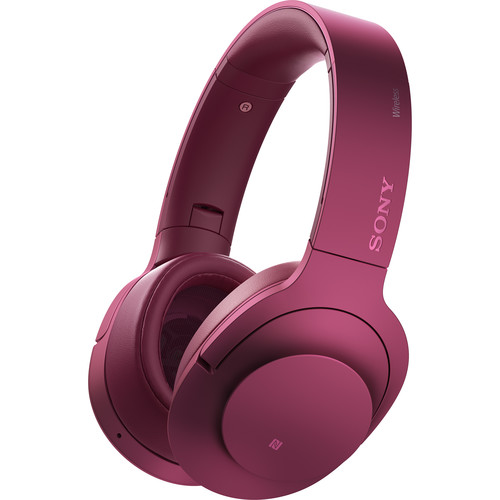 Sony h.ear on Wireless NC Bluetooth Headphones (Bordeaux Pink)
