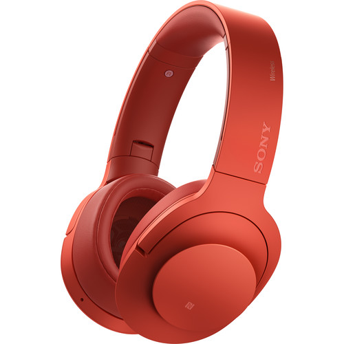 Sony h.ear on Wireless NC Bluetooth Headphones (Cinnabar Red)