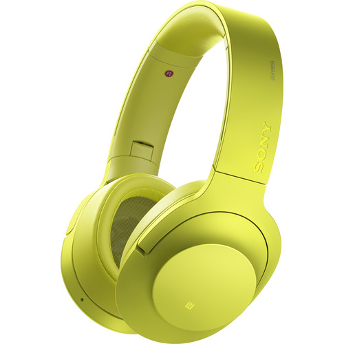 Sony h.ear on Wireless NC Bluetooth Headphones (Lime Yellow)