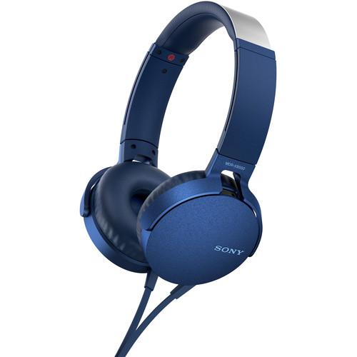 Sony XB550AP EXTRA BASS Headphones (Blue)
