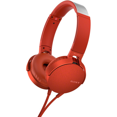 Sony XB550AP EXTRA BASS Headphones (Red)