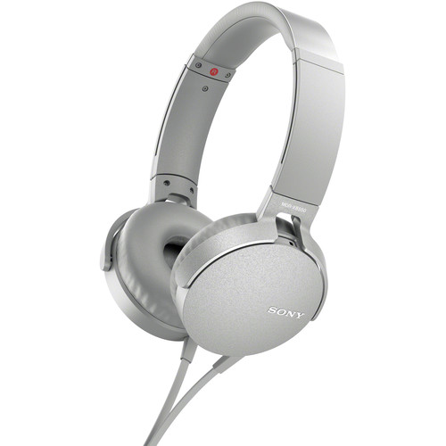 Sony XB550AP EXTRA BASS Headphones (White)