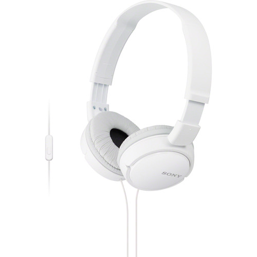 Sony MDR-ZX110AP Extra Bass Smartphone Headset (White)