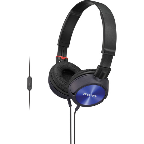 Sony MDR-ZX300AP Android Stereo Headphones (Blue)