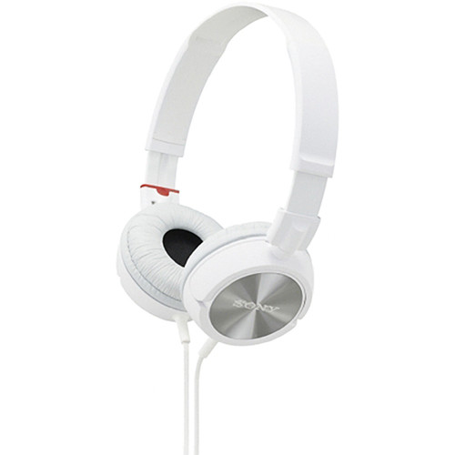 Earbuds with microphone package - Sony MDR ZX300 (White) Overview