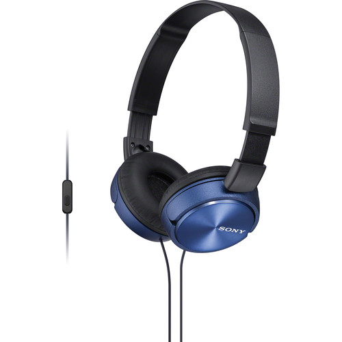 Sony MDR-ZX310AP ZX Series Stereo Headset (Blue)