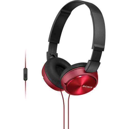 Sony MDR-ZX310AP ZX Series Stereo Headset (Red)