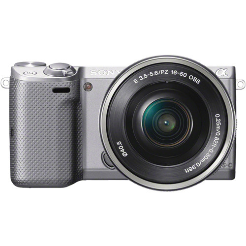 Sony Alpha NEX-5T Mirrorless Digital Camera with 16-50mm Lens (Silver)