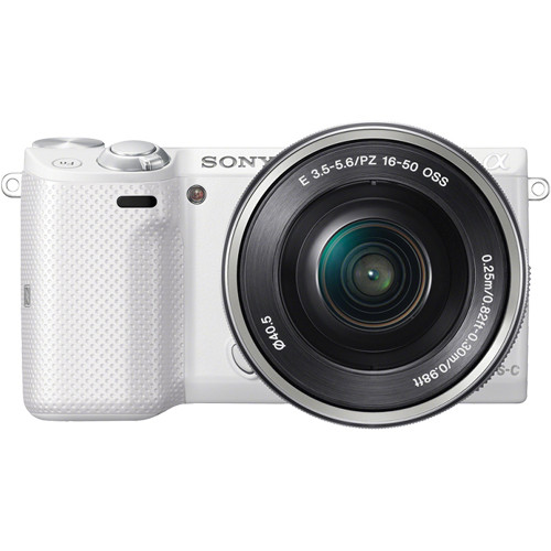 Sony Alpha NEX-5T Mirrorless Digital Camera with 16-50mm Lens (White/Silver)
