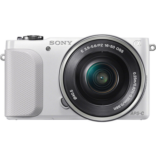 Sony Alpha NEX-3N Mirrorless Digital Camera with 16-50mm f/3.5-5.6 Lens (White / Silver)