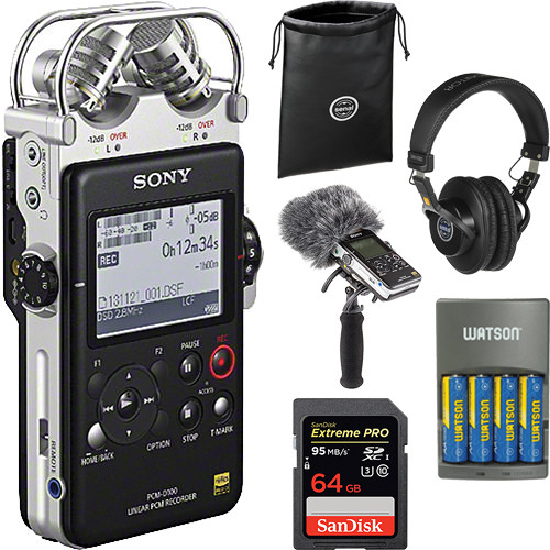 Sony PCM-D100 Portable Audio Recorder & Rycote Windshield and Suspension Kit