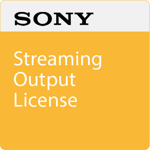 Sony Streaming Output License