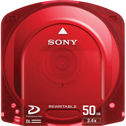 Sony Dual Layer Pre-Formatted Rewritable Optical Disc For XDCAM 95 min on MPEG HD422 (50 GB)