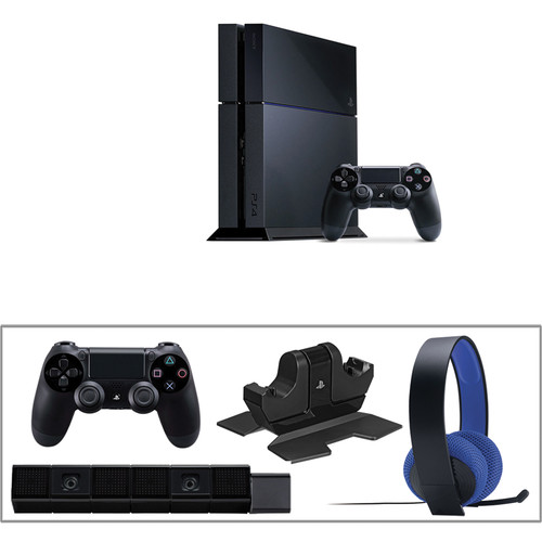 Sony PlayStation 4 Gaming Console Kit with PlayStation 4 Camera & Extra Accessories
