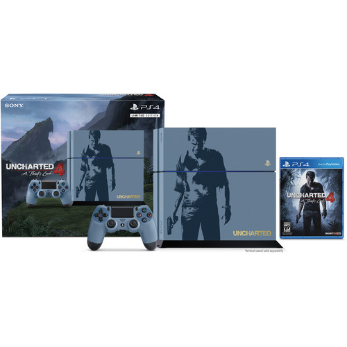 Sony PlayStation 4 Uncharted 4 Limited Edition Bundle, Controller, and Headset Kit