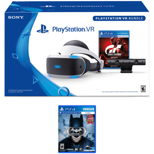 Sony Playstation VR Gran Turismo Sport Bundle Kit with Batman: Arkham VR