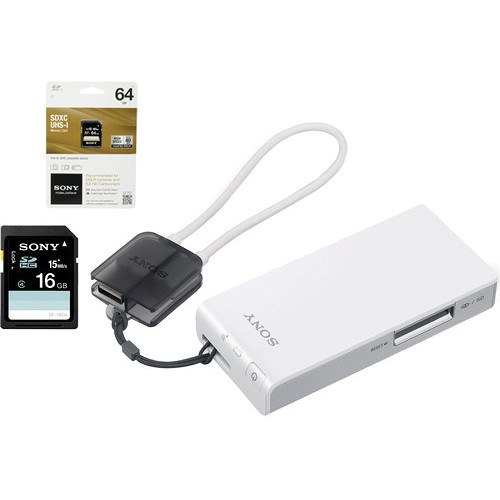Sony Portable Wireless Server Kit with 16GB SD and 64GB SDXC Cards