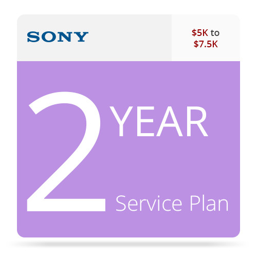 Sony 2-Year Service Plan for Professional Camcorders ($5 - $7.5K)