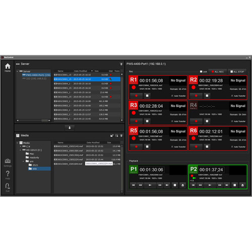 Sony Recording Control Software for PWS-4400 Storage Unit (Version 1.0)