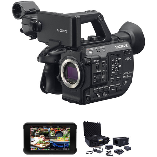 "Sony PXW-FS5M2 4K XDCAM Super 35 Kit with Atomos 7"" Monitor and Accessories"