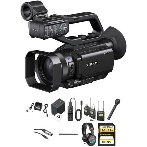 Sony PXW-X70 Advanced Video Journalist Kit with Backpack, Trolley, Rain Slicker, Wireless Mic System & Tripod