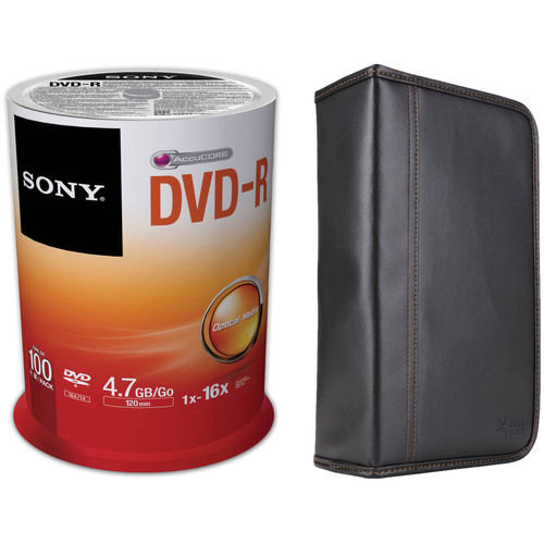 Sony Recordable Storage DVD-R Disc Kit with 100-Capacity Disc Wallet