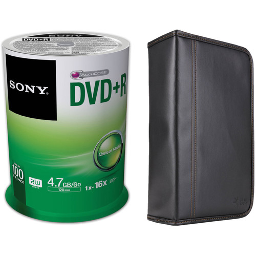 Sony Recordable Storage DVD+R Disc Kit with 100-Capacity Disc Wallet