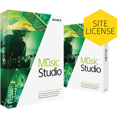Sony ACID Music Studio 10 Upgrade - Music Production Platform (Educational Site-License, Download)