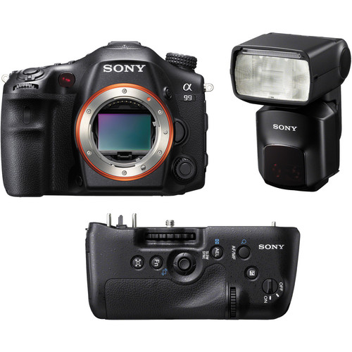 Sony Alpha SLT-A99 DSLR Camera Kit with Battery Grip and Flash