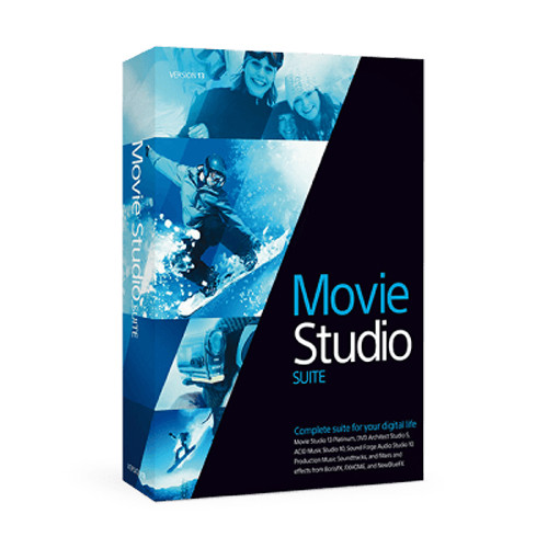 MAGIX Entertainment Movie Studio 13 Suite (Slip Sleeve, 100-499 License Tier)