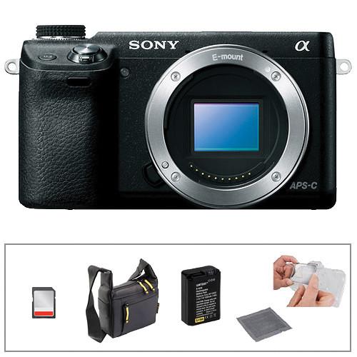 Sony Alpha NEX- 6 Digital Camera Kit with Basic Accessories (Black)