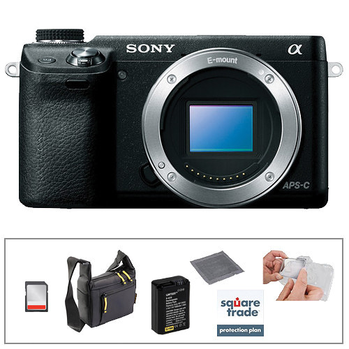 Sony Alpha NEX- 6 Digital Camera Kit with Essential Accessories (Black)