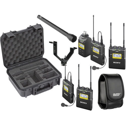 Sony UWP-D Integrated Digital Dual Combo Wireless ENG Basic Kit (UHF Channels 30/36 and 38/41: 566 to 608 and 614 to 638 MHz)