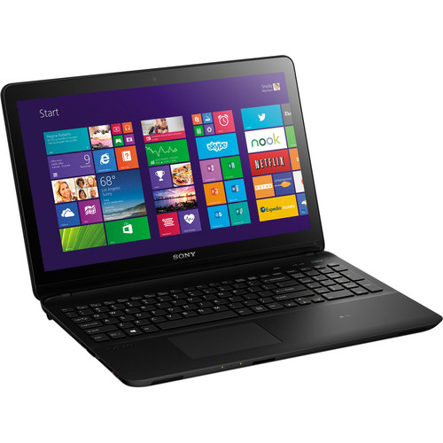 """Sony Sony VAIO Fit 15E SVF1532APXB 15.5"""" Multi-Touch Notebook Computer (Black)"""