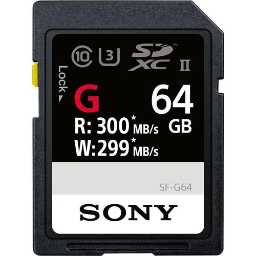 Sony 64GB SF-G Series UHS-II SDXC Memory Card
