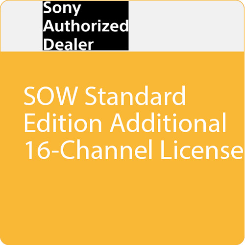 Sony SOW Standard Edition Additional 16-Channel License