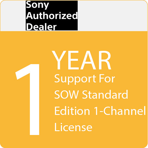 Sony 1-Year Support for SOW Standard Edition 1-Channel License
