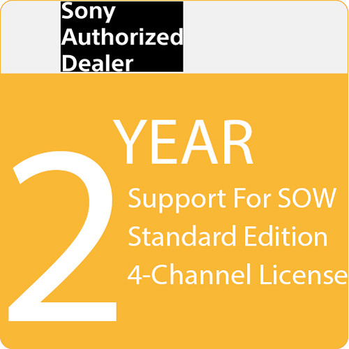 Sony 2-Year Support for SOW Standard Edition 4-Channel License