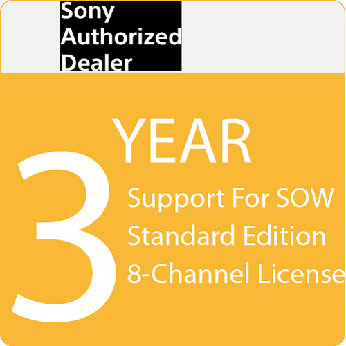 Sony 3-Year Support for SOW Standard Edition 8-Channel License