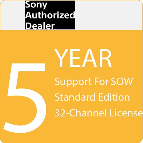 Sony 5-Year Support for SOW Standard Edition 32-Channel License