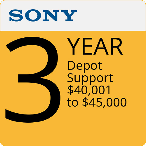 Sony 3-Year Depot Support $40,001 to $45,000