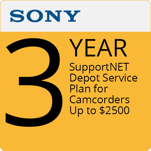 Sony 3-Year SupportNET Depot Service Plan for Camcorders Up to $2500