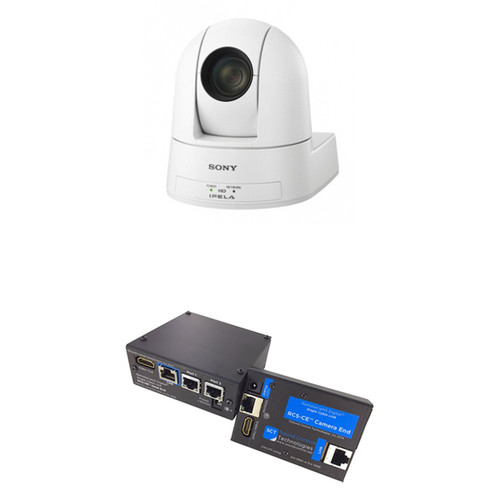 Sony SRG-300SE IP Streaming PTZ Camera with RC5-SRG EZ-2-Connect Kit (White)